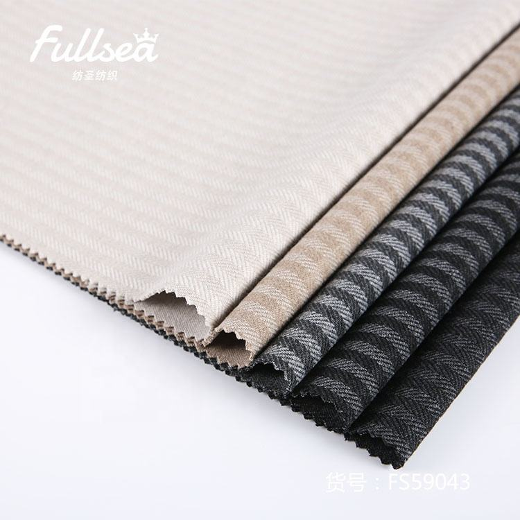 Popular jacquard wool nylon striped knit fiber spandex polyester fabric price per meter
