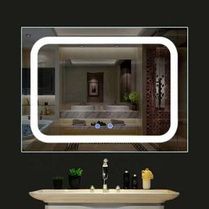 4mm 5mm tempered decorative floor framed frameless led mirror glass price