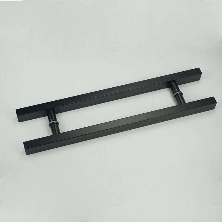Matt Black Wood Large Door Handle