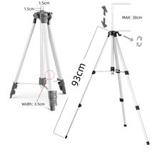 Professional Aluminum Adjustable Laser Level 93cm Tripod Lightweight with Bubble Level and 3 Adjustable Elevator Legs