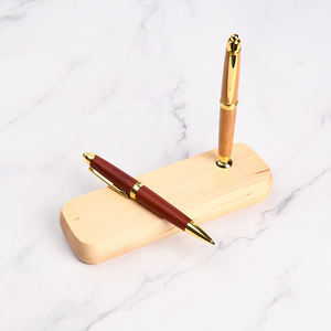 Promotion 2020 new year best corporate box gift sets customized ECO friendly bamboo pen with Customer Logo Fountain Pen Bamboo