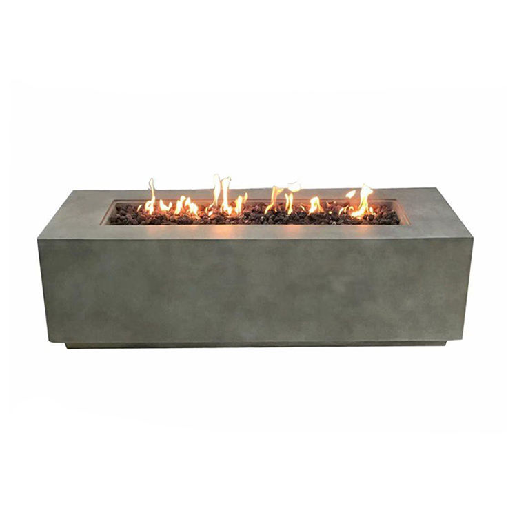 High Quality Large Outdoor Rectangle Propane Natural Gas Fire Pits With Bbq