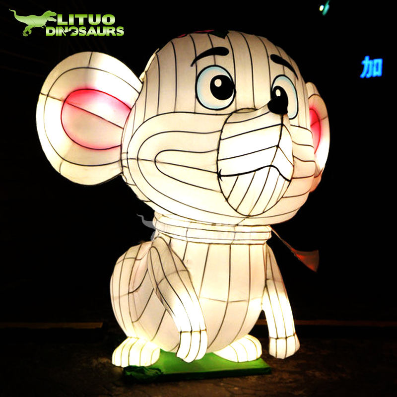 Giant Chinese Holiday Silk Animal Mouse Lantern
