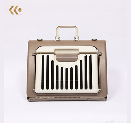 Cat and dog pet carrier portable air case folding plastic basket consignment air car travel for transport