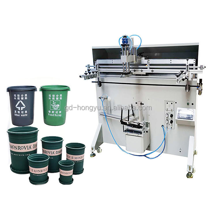 Bucket Screen Printing Machine oil barrel screen printer 5 gallon water bottle printing equipment on sell