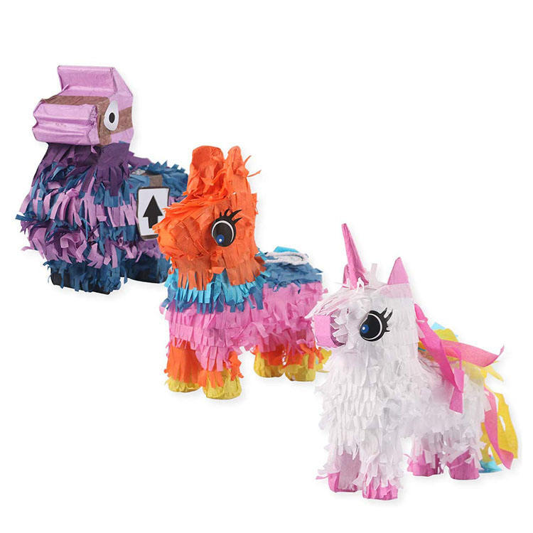 Nicro Kid Party Cheap Wholesale Custom Toy Manufacture Design Donkey Unicorn Llama Mini Pinatas for Birthday