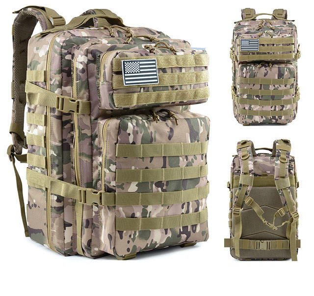 Military Tactical Backpack Large Army 3 Day Assault Pack Molle Bag Backpack with survival kit supplies