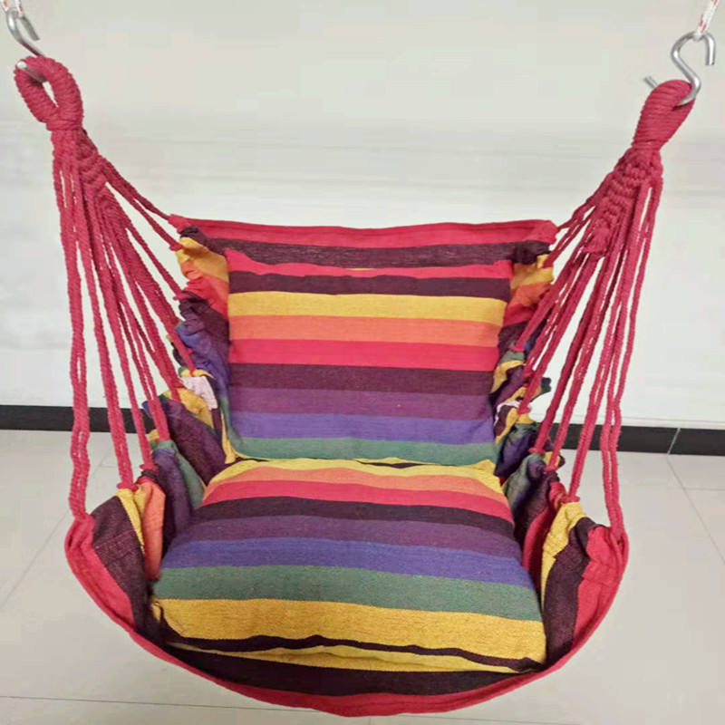 Hanging Rope Chair Porch Swing Seat Patio Camping Portable