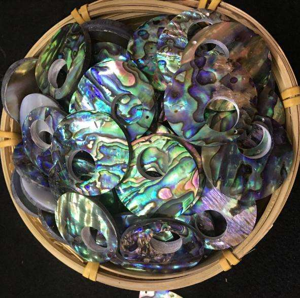natural abalone shell diy shell decoration natural colored shell