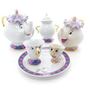 CTS-002 Hot Sale New Wedding Thank You Gifts Beauty and The Beast Mrs. Potts Chip Tea Pot & Cup set Teapot Mug ( Pot & Cup)