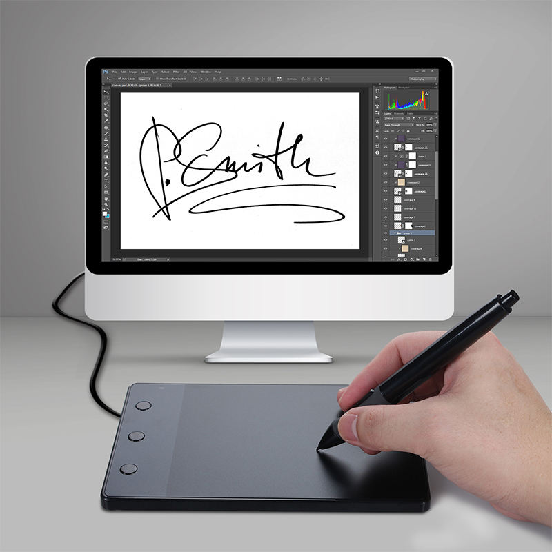 Hot Koop! Nieuwe Huion H420 Professionele Handtekening Pad Digitale Boards Usb Grafische Pen Tablet