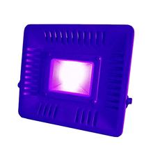 50W Violet COB LED Stage Light  Waterproof IP65 395-400nm Wavelength UVA Flood Light for Indoor Outdoor Holiday party disco bar