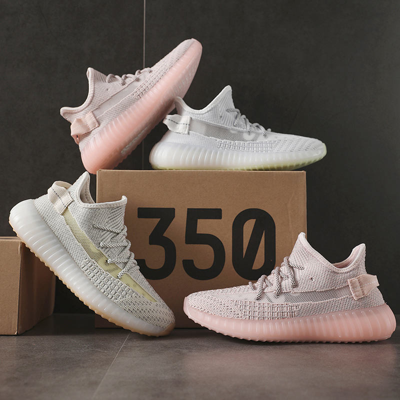 High Quality Summer Women Sports Sneakers Reflective Shoes Yezzy Yeezy 350 v2 With Fair Price