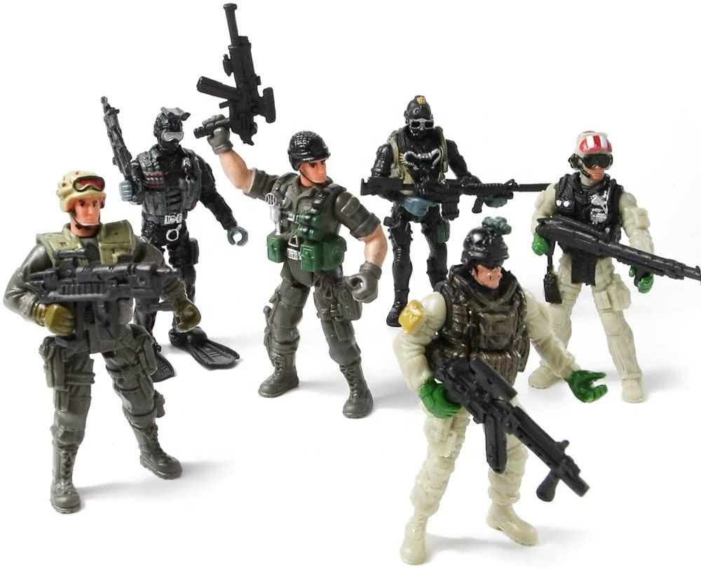 SWAT Models Army Men Toys Elite Forces Action Figures Military Soldiers Play set