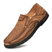 Latest Italian handmade working safety comfortable office men leather dress shoes