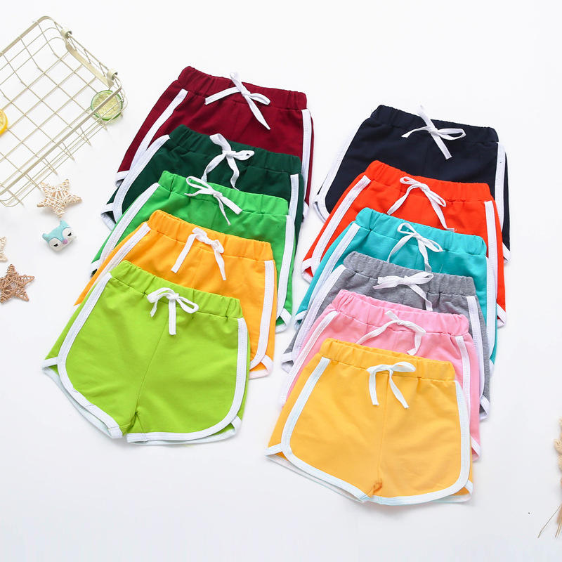 Children Clothes Summer Baby Cotton Drawstring Shorts Girls Boys Sports Shorts Casual Elastic Multicolor Pants