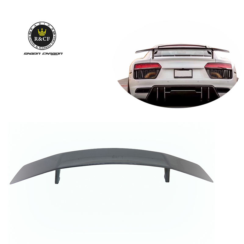 2017+ Car Spoiler R8 Rear Spoiler VRS Style Carbon Fiber GT Wing Rear Spoiler For Audi R8 New R8