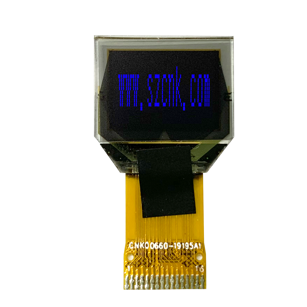 0.66 inch monochrome small OLED 64*48 all viewing white IC SSD1306 SPI interface COG