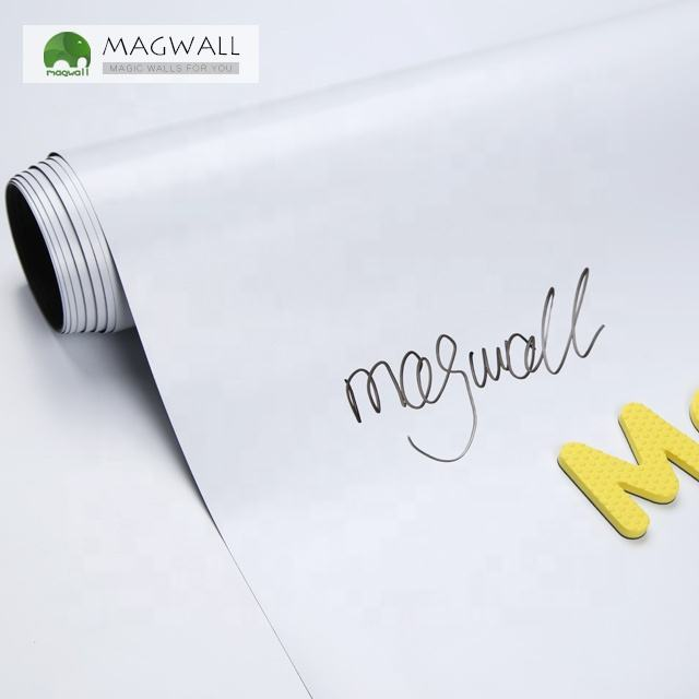 Magwall school office dry erase white board magnetic smooth writing magnet attach home decoration whiteboard wallpaper