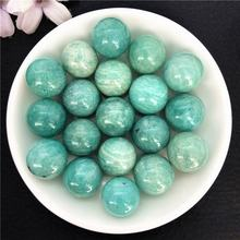 Wholesale Natural Crystal Quartz Ball Sphere Crystal Crafts Amazonite Spheres Blue Amazonite Beads For Decoration