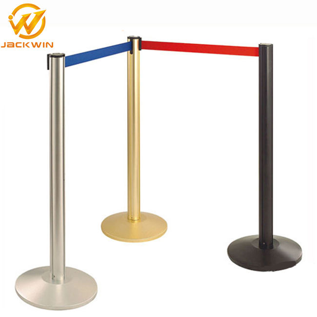 China Factory Price Polished Retractable Belt Stainless Steel Post Crowd Control Stanchion