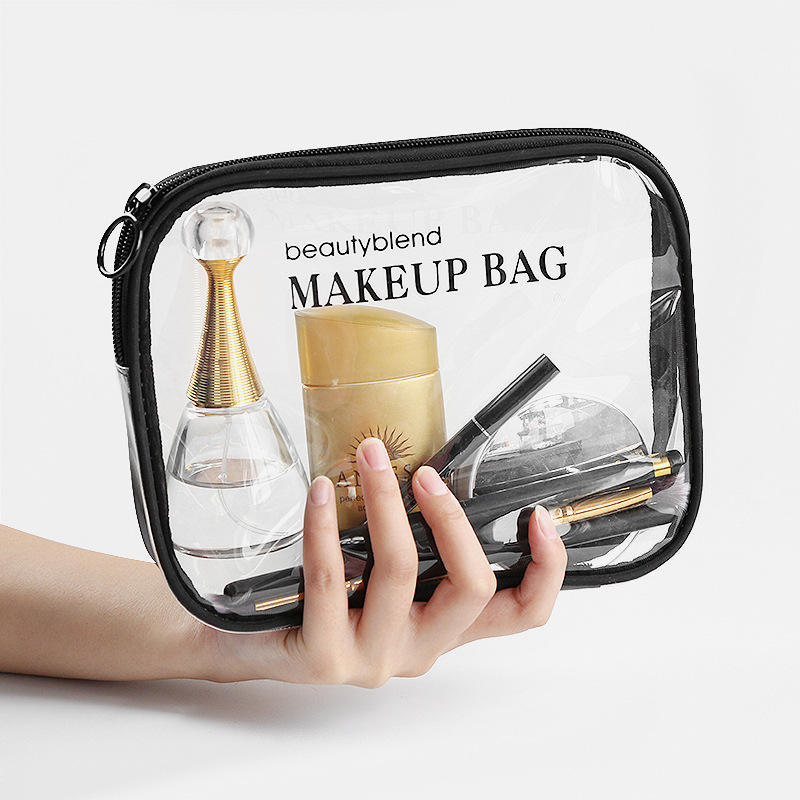 Custom Printed logo High Quality Eva Pvc Waterproof Makeup Bag Women Travel Clear Cosmetic Bag