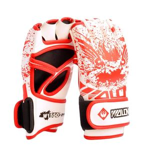 WOLON China Wholesale custom Design logo high quality Professional PU leather ufc Half Finger MMA Boxing Training Gloves