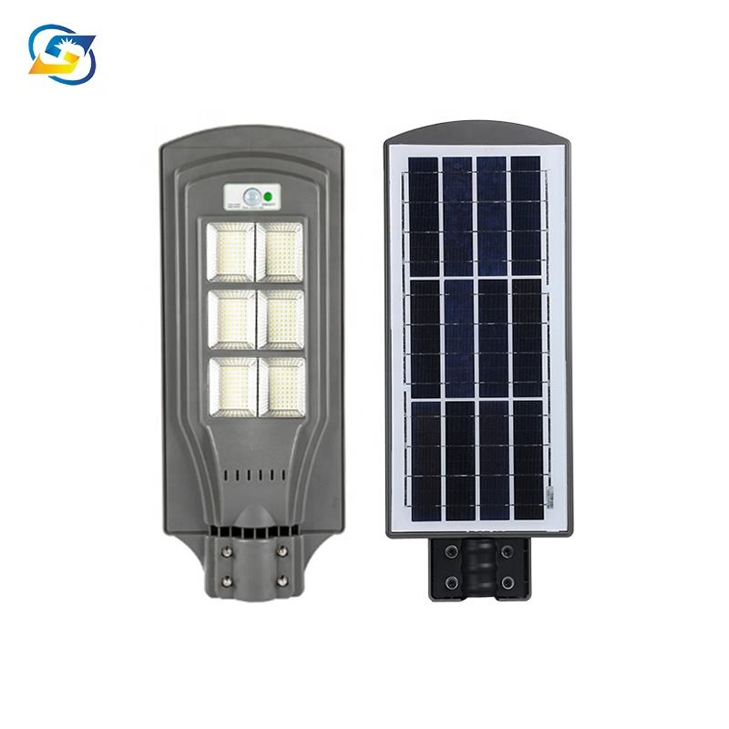 Factory price 30w 60w 90w 120w led solar street light all in one with 624pcs led chip