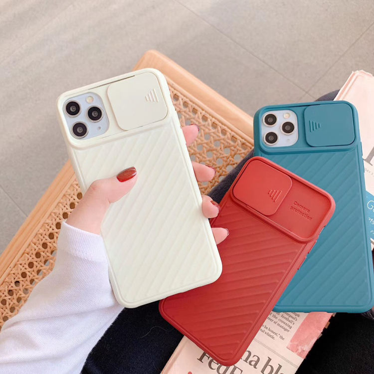 For iPhone 11 11 Pro Max Case Coverage CamShield Case Slide Camera Cover Protect Privacy Classic Back Cover For iPhone 11 Pro