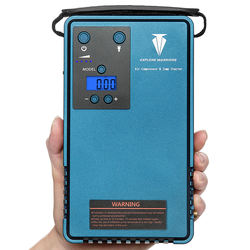 Jump starter with air compressor &mobile power support LCD screen tyre Pressure gauger&Outdoor Camping lights With 10200MA capac