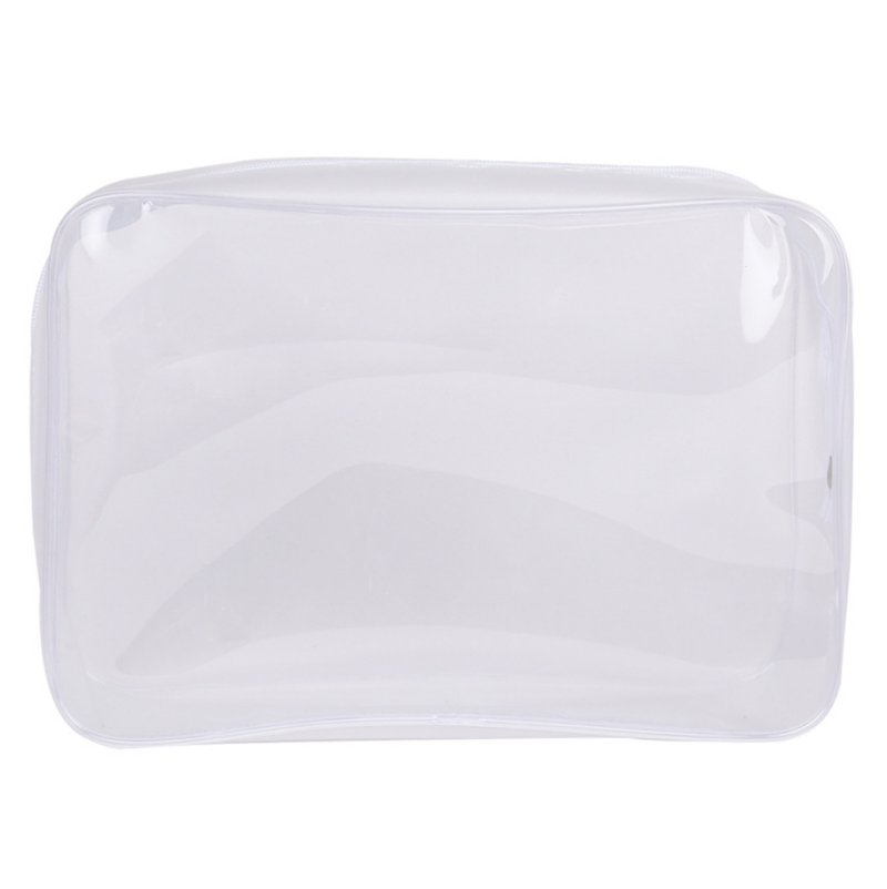 OEM ODM custom large size transparent frosted plastic sewing zipper clear pvc cosmetic travel makeup bag