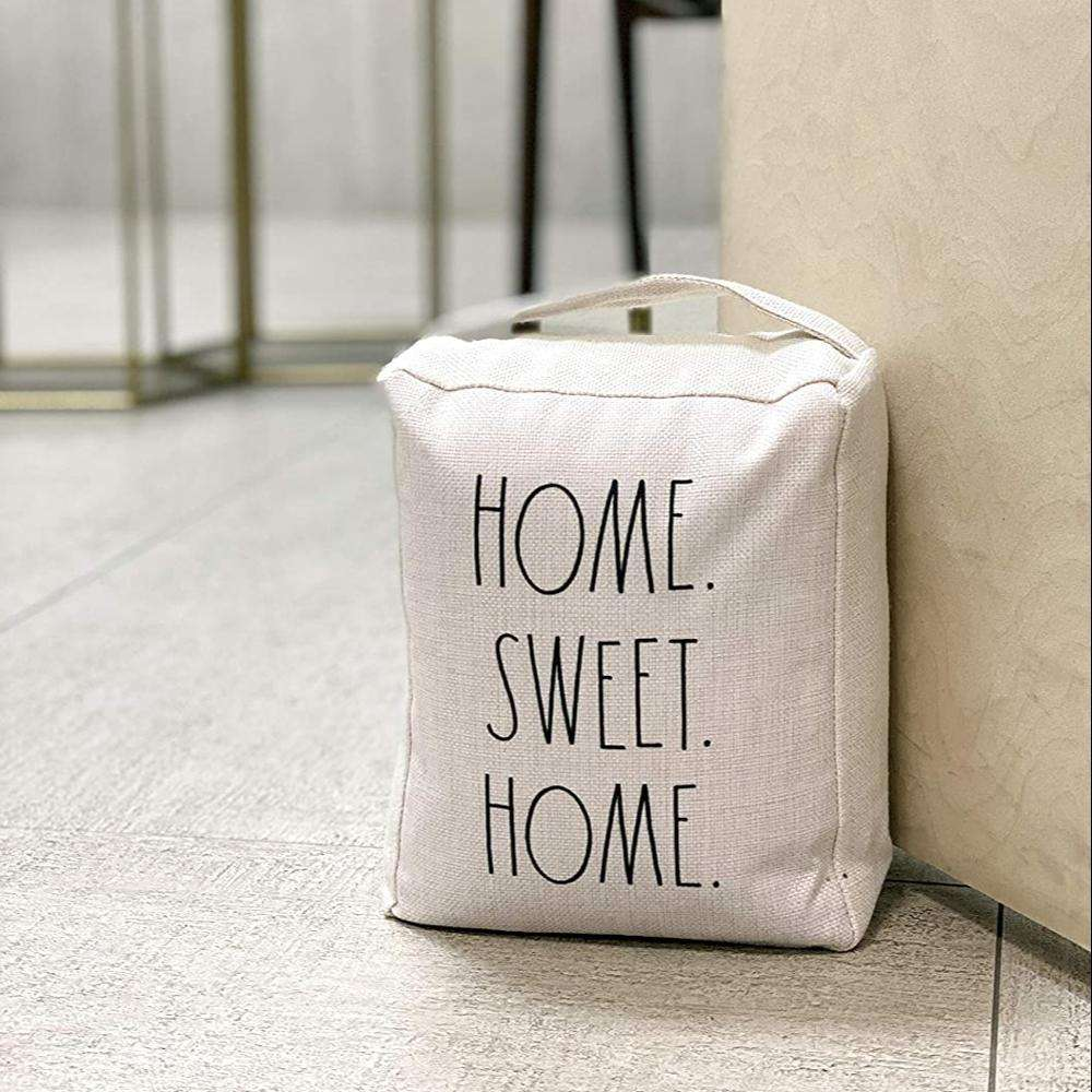 Home Sweet Home Decorative Stuffed Fabric Door Stopper Bag