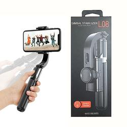 L08 Smart Rotation Aluminum Gimbal Stabilizer Selfie Stick Tripod with Wireless Remote Shutter for Cell Phone