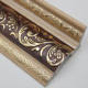 12cm wide golden color eps hot stamping foil cornice moulding polystyrene for ceiling decoration