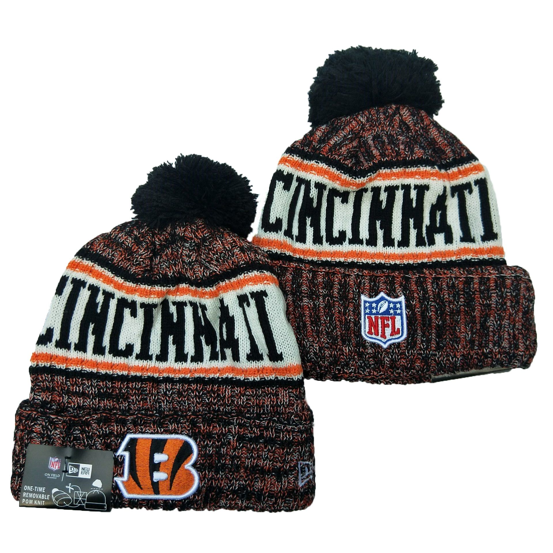 NFL CINCINNATI BENGAL Sports Winter Knitting Ca ps Knitted Beanies America football team NFL winter hat 3d embroidery beanie