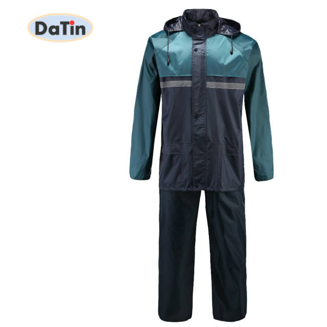 TOP Selling Durable Polyester Waterproof Rain Wear Coat Men's Rain Jacket Trouser Rain Suit rainsuits Raincoat for Motorcycle