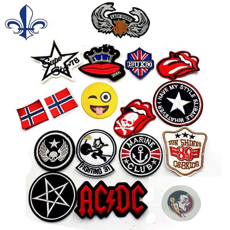 Wholesale Cotton Custom Patch Badge Embroidery Patch woven clothing label