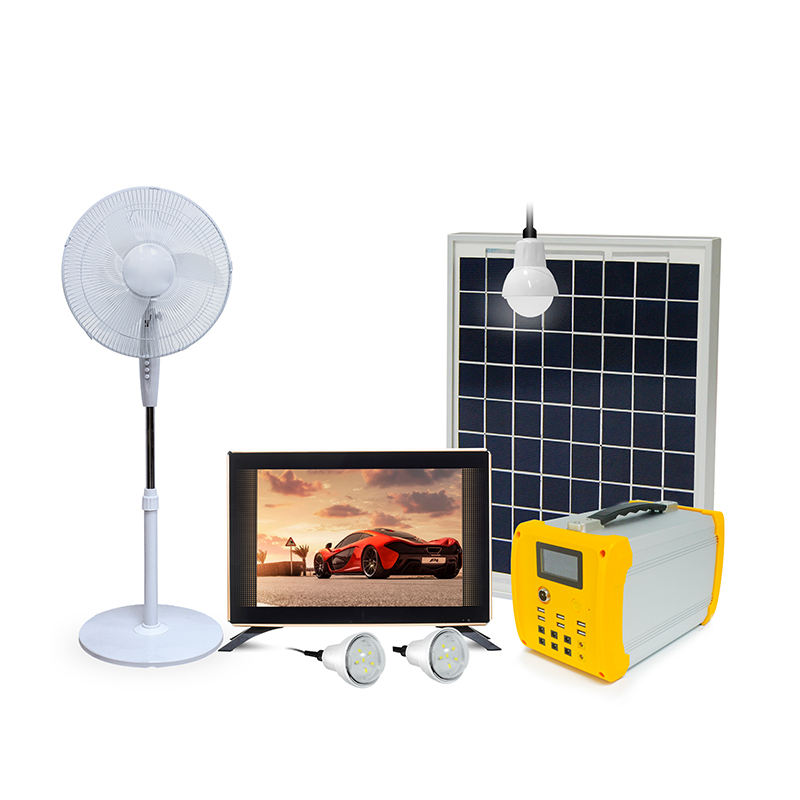 China 50W/100w Solar Portable Home Energy Lighting System With Polycrystalline Panel
