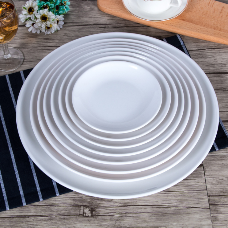 Savall HoReCa OEM bulk ceramic dinner plate dishes porcelain plate white ceramic wedding plate porcelain crockery