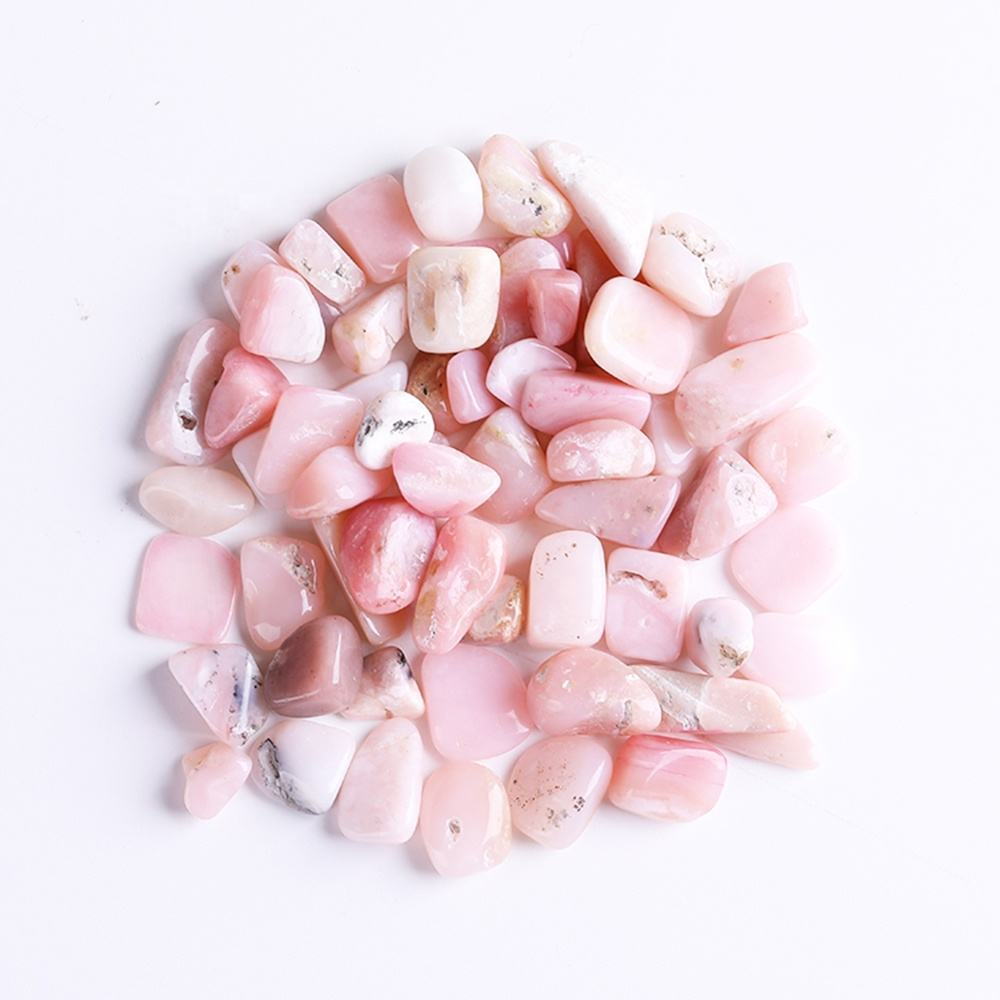 Wholesale High Quality Natural Pink Opal Healing Gravel Crystals Tumbled Stones