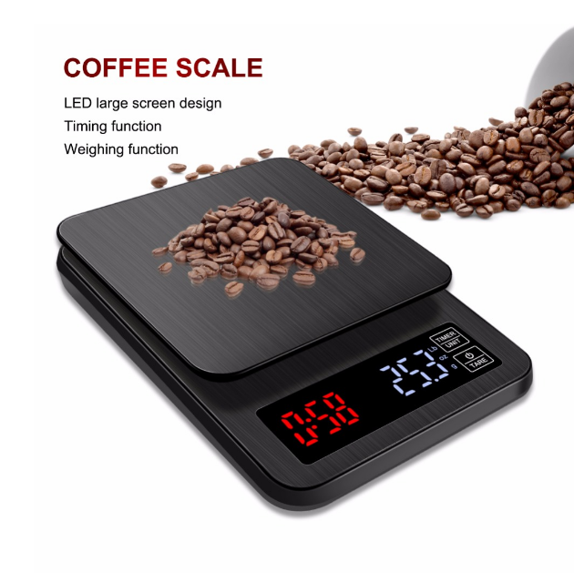 USB Charge 10KG Digital Smart Coffee Scale with Timer for Home Kitchenware