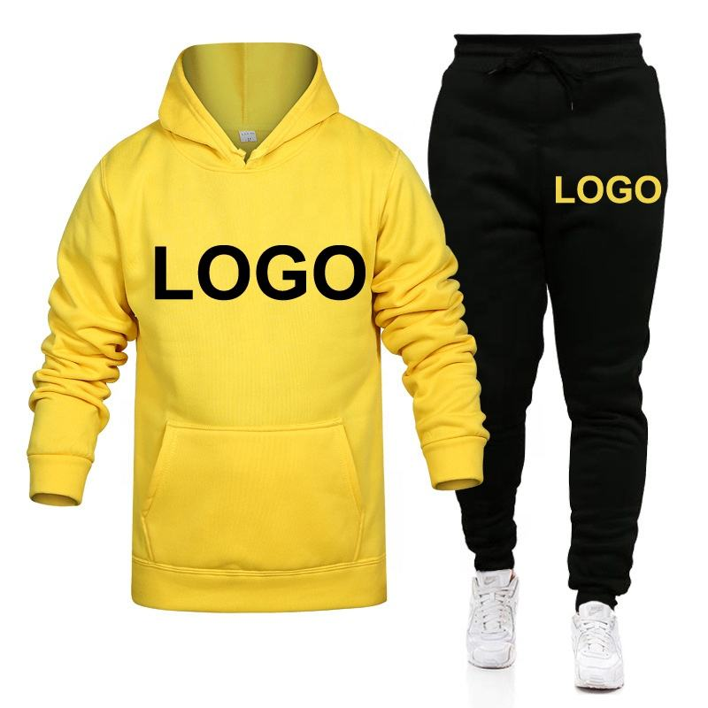 Team Wear Street Sportswear Hoodie Men Red And Yellow Pullover Printing Private Label Printed Polyester Plain Sports Hoodies