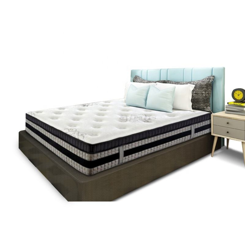 4 Zone Pocket Spring Mattress With Cooling Gel Memory Foam Natural Latex Bed Mattress