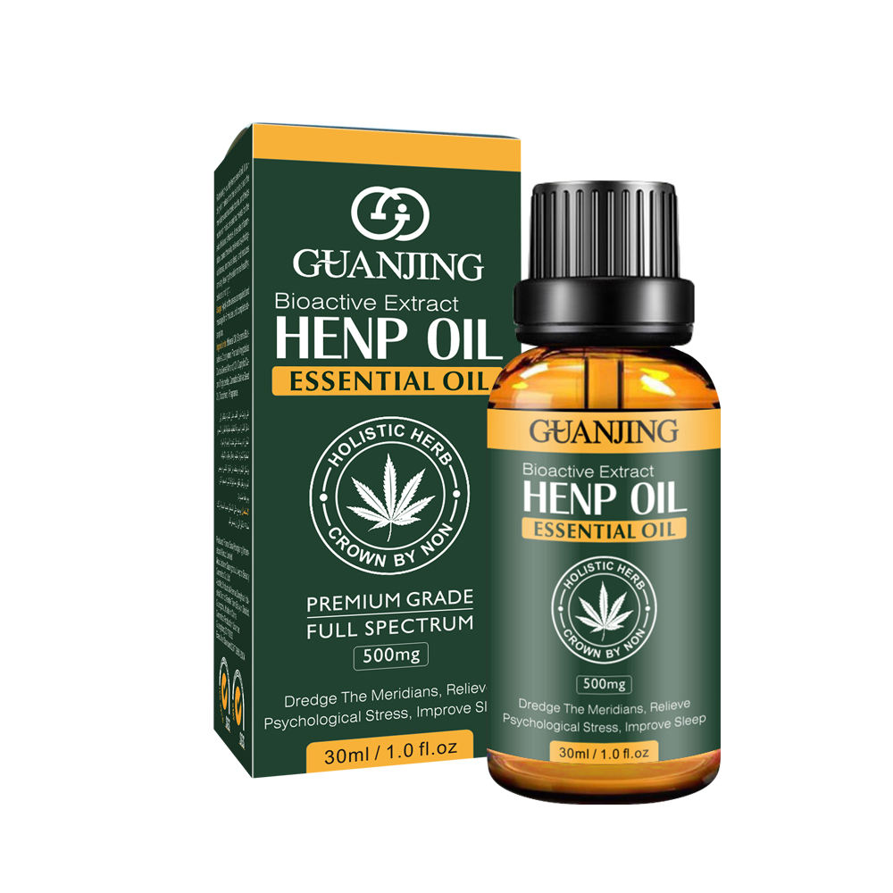 Pure natural hemp oil relax body relief pain ati aging essential massage oil