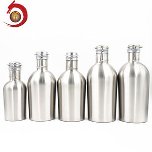 Food Grade Stainless Steel Custom Logo Flip-Top 32 Ons Bir Growler