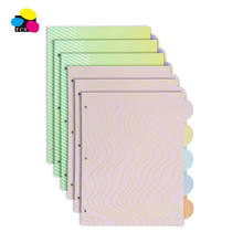 OEM factory Paper 1/5 cut Binder Dividers with Insertable Colored Plastic Tabs