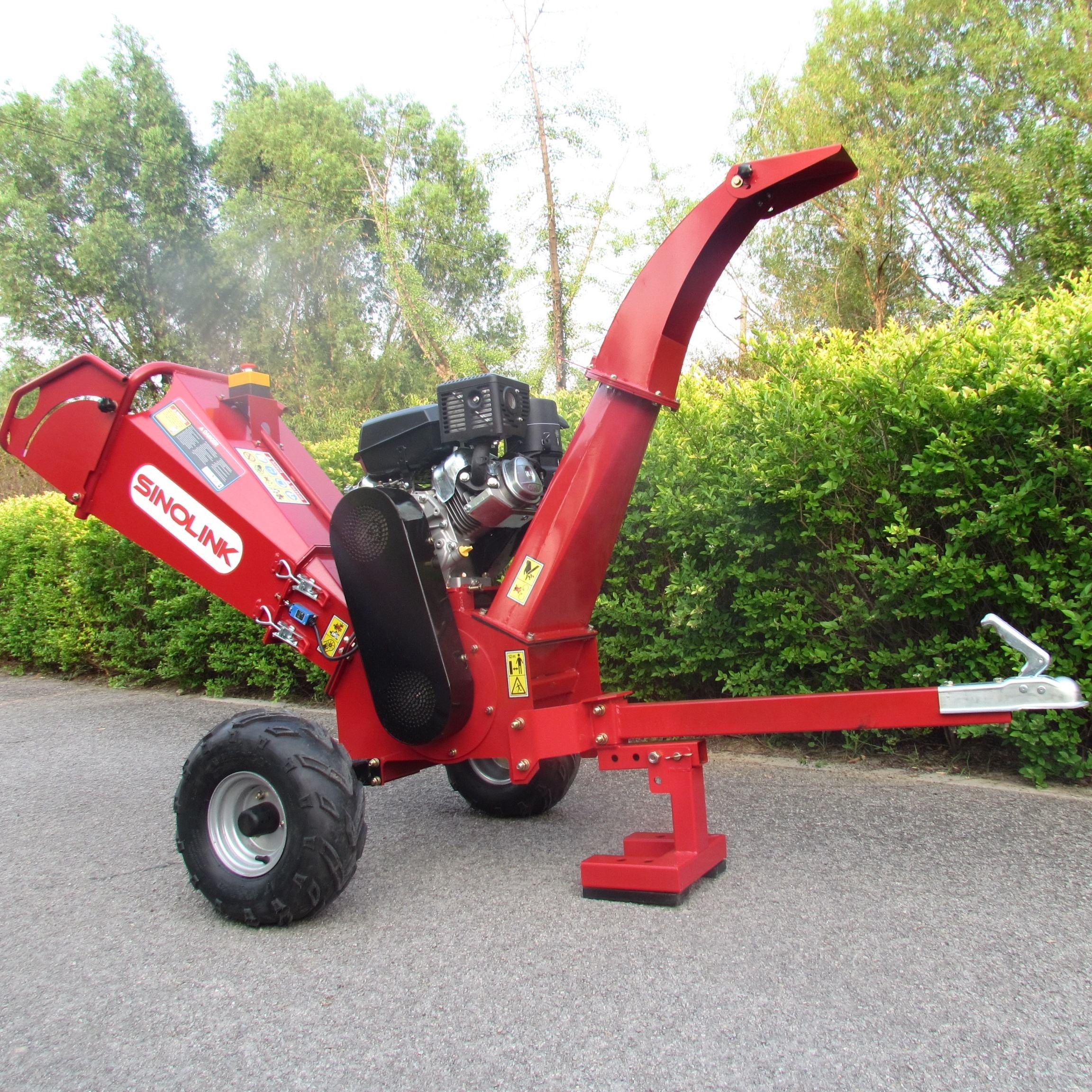 15hp Petrol Engine Electric Start 120mm Chipping Capacity Wood Chipper Shredder Pto Wood Chipper Shredder Machine