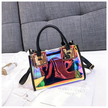 Wholesale Large Beach Bags 2 in 1 Holographic tote Bag PVC Handbag Shoulder shopping hand Bag for ladies