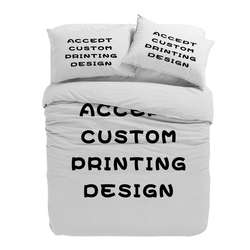 Custom Printed Design 7 pcs Bedding Set for Wedding Couple U