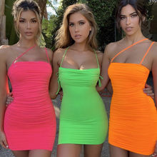 2020 party casual night club bodycon solid color mini short summer clothes women sexy